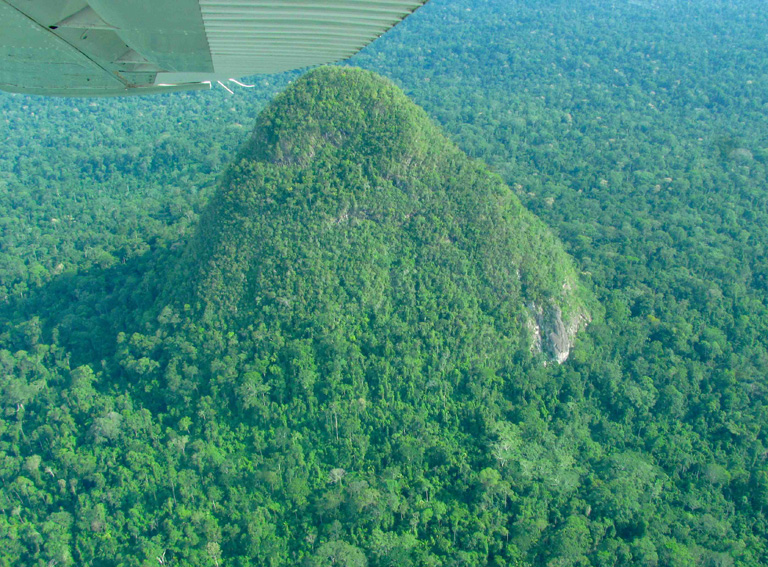 Sierra del Divisor's famed cone. Photo by Enrique Ortiz of the Amazon Andes Fund.
