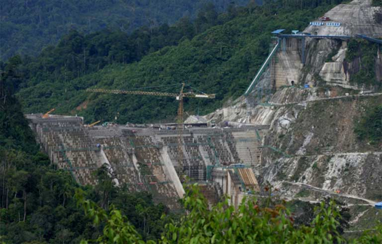 Construction of the Murum Dam, built in Malaysia by China Three Gorges. Photo courtesy of International Rivers