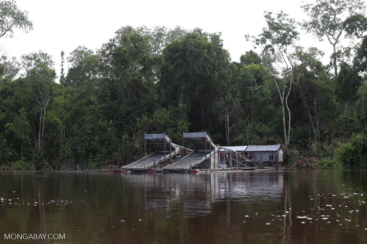 A gold mining operation in Central Kalimantan. Photo by Rhett A. Butler