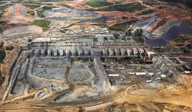 The Belo Monte dam under construction. New evidence has come forward alleging that the consortium selected to build the dam had made a large contribution to the ruling Workers' Party in order to win the Belo Monte contract Photo courtesy of Lalo de Almeida/Folhapress.