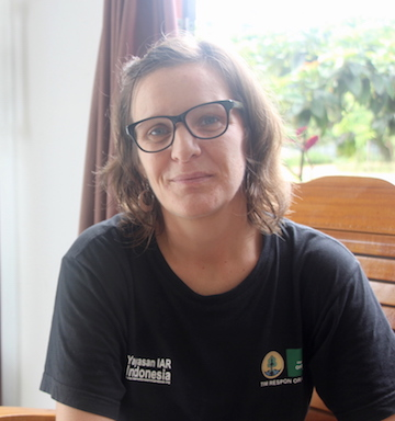 Gail Campbell-Smith, scientist and human-animal conflict team leader at International Animal Rescue's Ketapang, West Kalimantan, office.