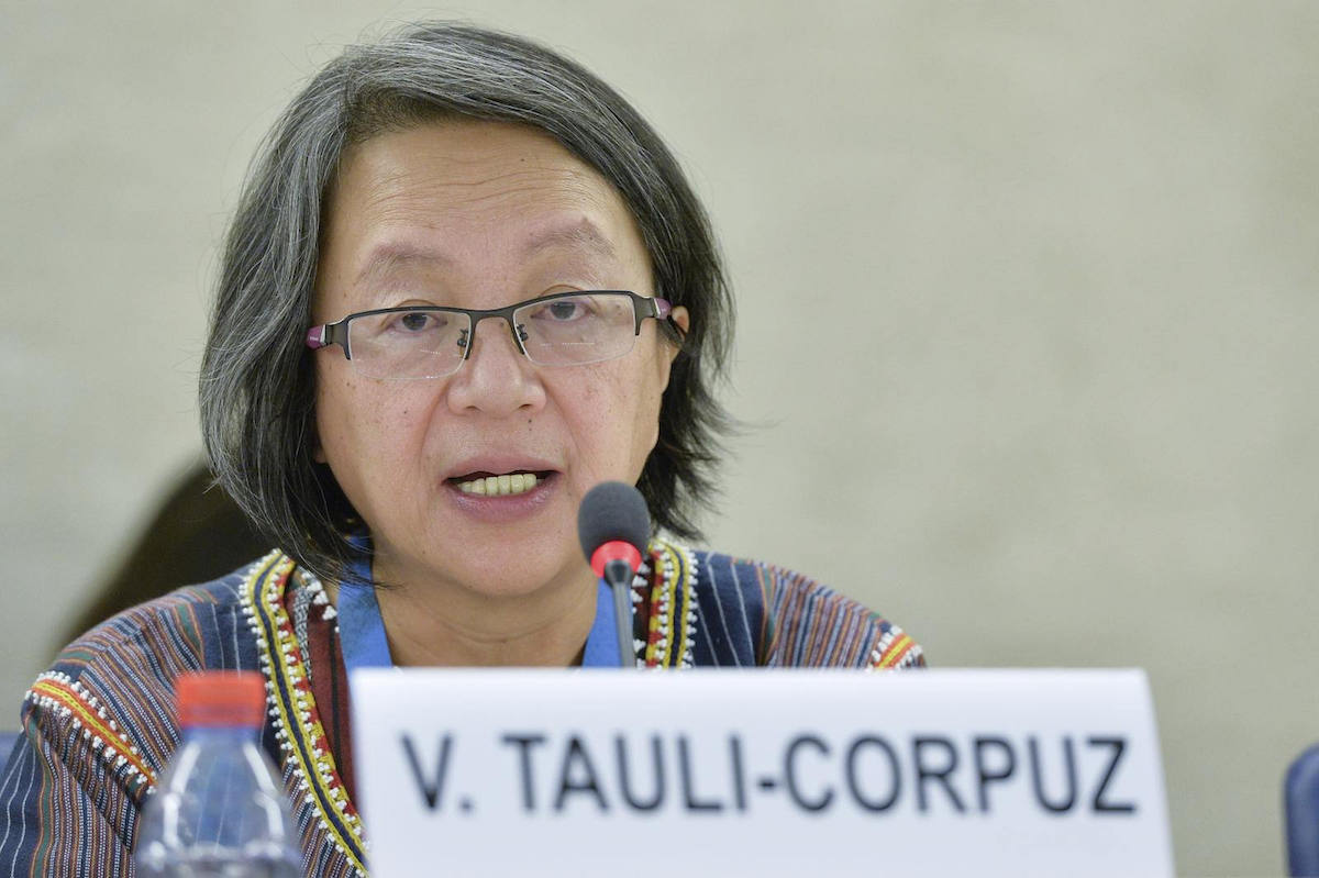 Victoria Tauli-Corpuz, UN Special Rapporteur on the rights of indigenous peoples, conducted an 11-day official visit to Brazil in March 2016. Photo by UN Geneva.