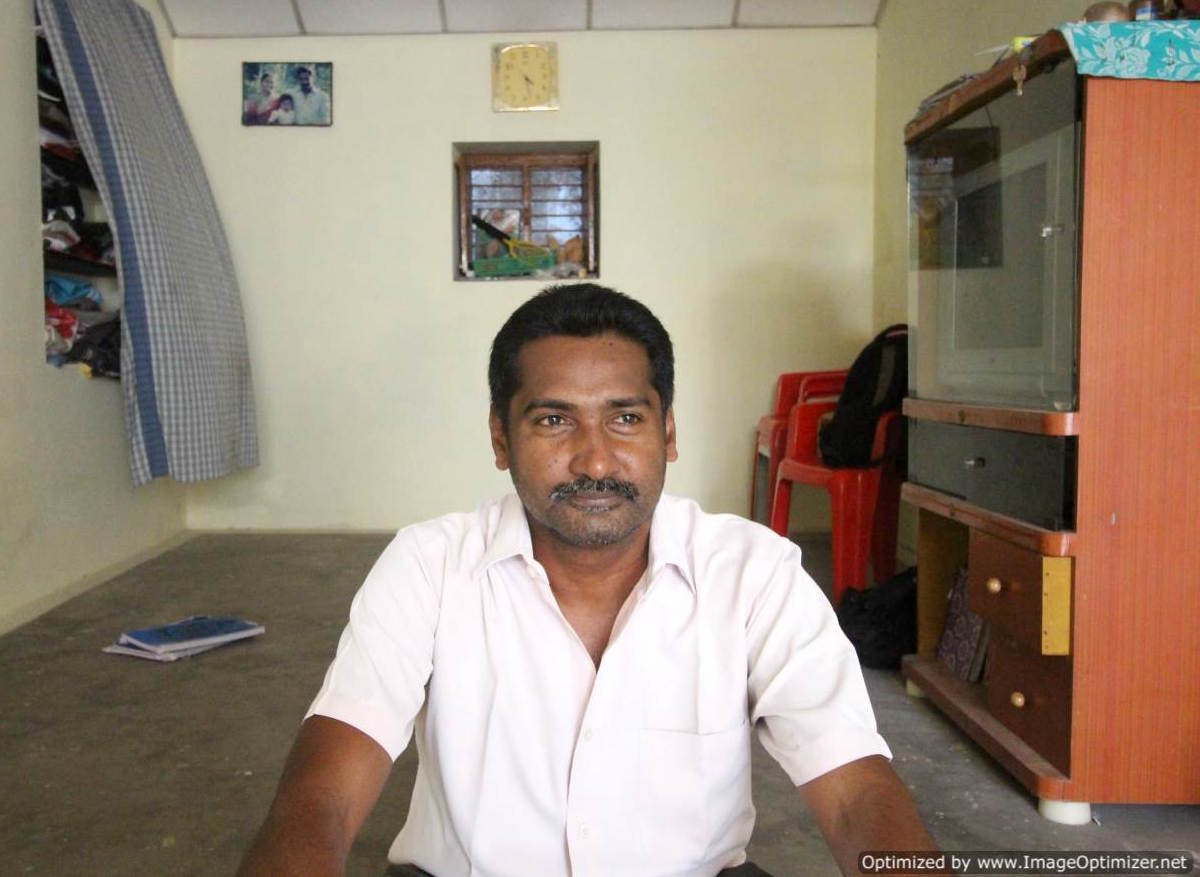 S. Mugilan at home in Chennimalai, Tamil Nadu. Photo by Sibi Arasu.