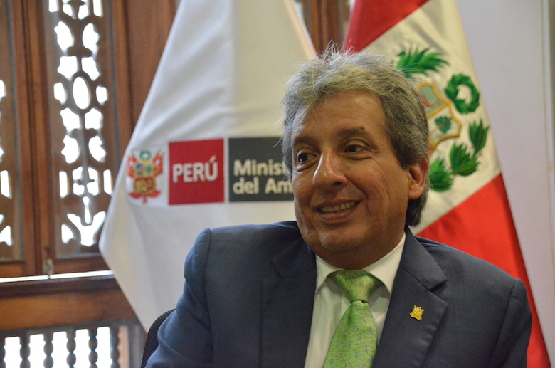 Manuel Pulgar-Vidal, former minister of the environment. Photo by Emilia Catanoso