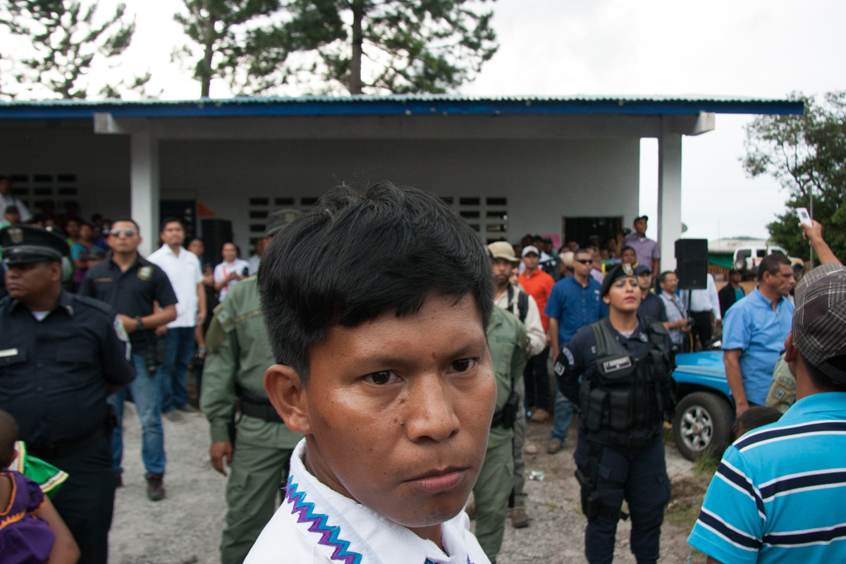 Ricardo Miranda, one of the protest leaders and member of the M10 movement representing Ngäbe communities affected by the dam. Photo by Camilo Mejia Giraldo