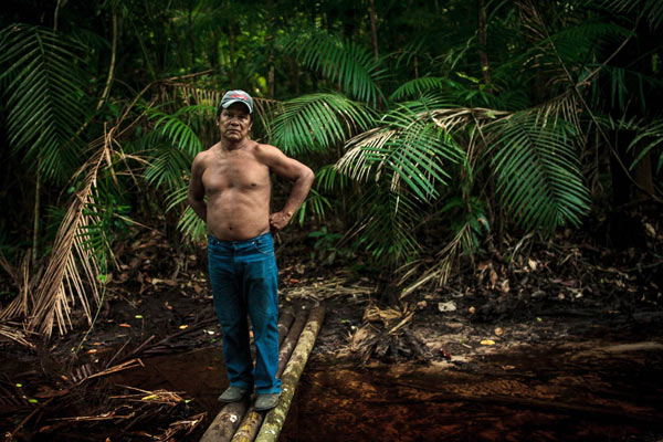 "Chief Juarez Saw Munduruku, from the Sawré Muybu Indigenous Land: ""The only way I'm leaving is dead"". Photo: Marcio Isensee e Sá"