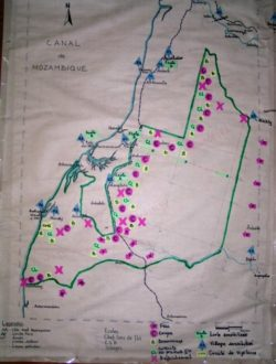 Map created by local community shows areas of human degradation needing monitoring.