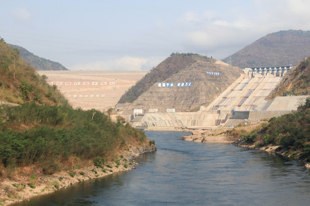 The enormous Nuozhadu Dam in China's Yunnan province. The dam was built by an arm of the China Huaneng Group, a state-owned enterprise. Photo by International Rivers/Flickr