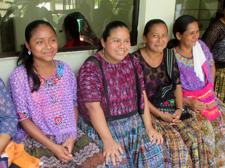 Rosa Elbira Coc (second from the left) is one of 11 Maya Q'eqchi' women involved in one of the lawsuits in Canada against Hudbay Minerals. Photo by Sandra Cuffe for Mongabay.